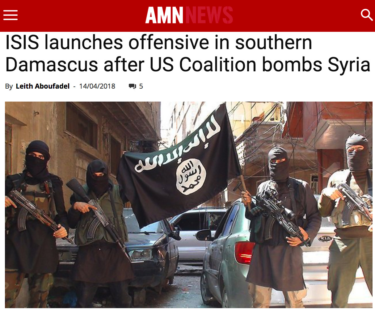 Johnson praised Assad for success v ISIS. ISIS used missile attacks to cover Damascus assault